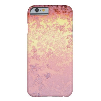Caja color de rosa del iPhone 6 de Ombre del oro Funda Para iPhone 6 Barely There