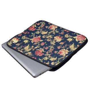 Caja color de rosa floral de la electrónica del vi manga portátil