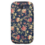 Caja color de rosa floral de la galaxia de Samsung Samsung Galaxy S3 Coberturas