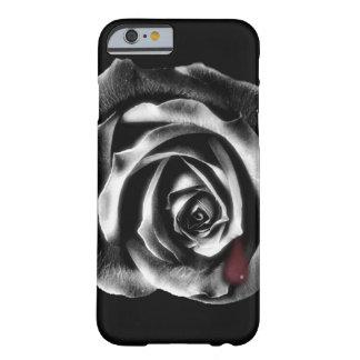 Caja color de rosa negra del iPhone 6 del vampiro Funda De iPhone 6 Slim