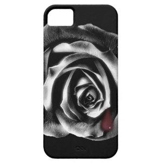 Caja color de rosa negra del iphone del vampiro iPhone 5 carcasa
