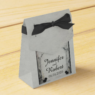 Caja color de rosa negra gótica del favor del boda caja para regalo de boda