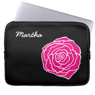 Caja color de rosa personalizada del ordenador por fundas portátiles