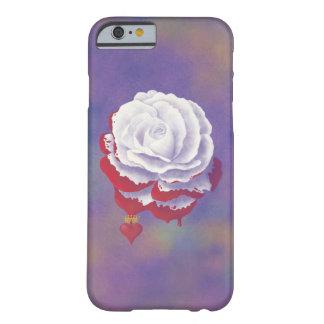 Caja color de rosa pintada del iPhone 6 Funda Barely There iPhone 6