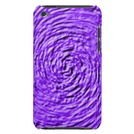 Caja color de rosa púrpura de iPod Barely There iPod Protectores