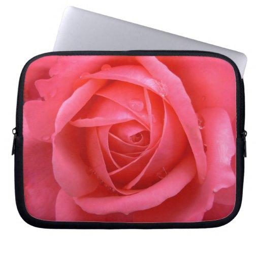 Caja color de rosa romántica de la tableta de la m funda portátil