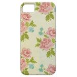Caja color de rosa rosada 5S del iPhone 5 del vint iPhone 5 Case-Mate Protectores