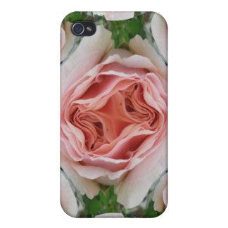 Caja color de rosa rosada de la mota del brote iPhone 4 coberturas