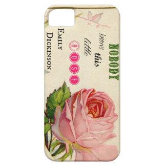 Caja color de rosa rosada del iphone 5 de Emily iPhone 5 Funda