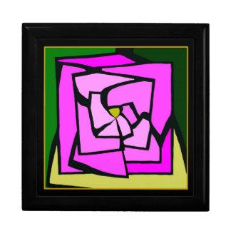 Caja color de rosa rosada del recuerdo del vitral cajas de joyas