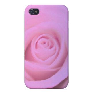 Caja color de rosa rosada suave de la mota del iPh iPhone 4 Cárcasas