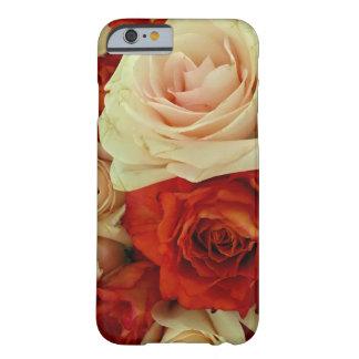 Caja color de rosa rústica del Ramo-iPHONE 6/6s Funda De iPhone 6 Barely There