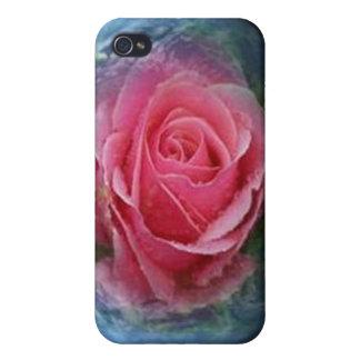 Caja color de rosa y de la tierra rosada de la mot iPhone 4 cobertura