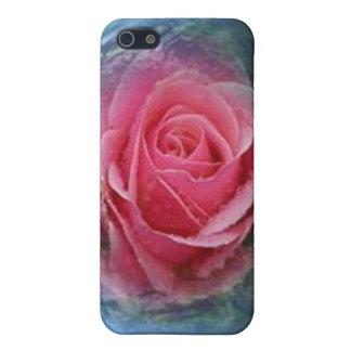 Caja color de rosa y de la tierra rosada de la mot iPhone 5 carcasa