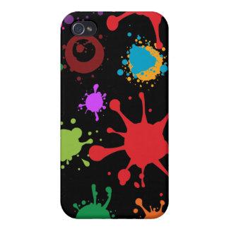 Caja coloreada colorida del iPhone 4 del chapoteo iPhone 4 Fundas