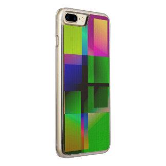 Caja coloreada geométrica del iPhone del diseño Funda Para iPhone 7