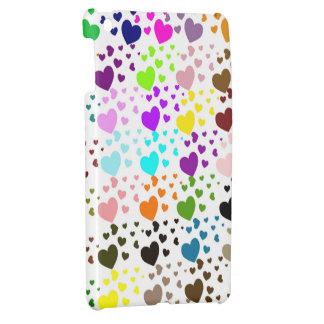 Caja coloreada multi del iPad de los corazones min
