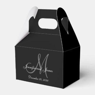 Caja coloreada negro de encargo del favor del boda caja para regalos