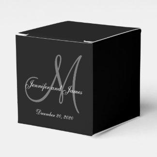 Caja coloreada negro de encargo del favor del boda cajas para regalos de boda