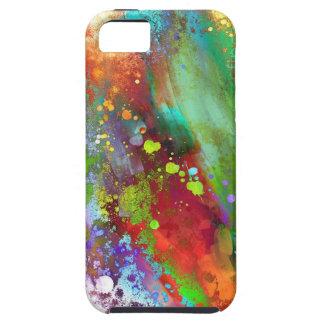 Caja colorida abstracta del salpicón de la pintura funda para iPhone SE/5/5s