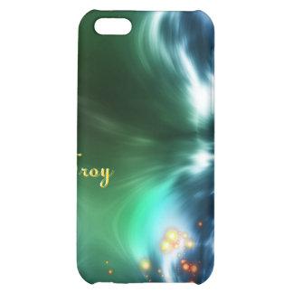 Caja colorida astral de la mota de IPhone 4 de la