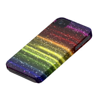 Caja colorida de Blackberry del arco iris iPhone 4 Funda