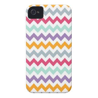Caja colorida de Chevron Iphone 4/4S Case-Mate iPhone 4 Fundas