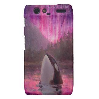 Caja colorida de Droid RAZR del rosa de la orca de Motorola Droid RAZR Fundas