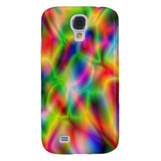 Caja colorida de HTC de la casamata de la abstracc Funda Para Galaxy S4