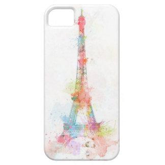 Caja colorida de IPhone 5/5S de la torre Eiffel iPhone 5 Fundas