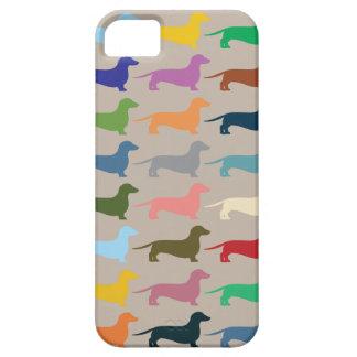 Caja colorida de Iphone del Dachshund iPhone 5 Carcasa