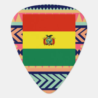 Caja colorida de la bandera de Bolivia Plectro