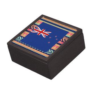 Caja colorida de la bandera de Nueva Zelanda Cajas De Regalo De Calidad
