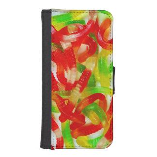 Caja colorida de la cartera del iphone de la fundas tipo billetera para iPhone 5
