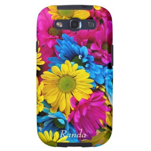 Caja colorida de la galaxia de Samsung de las marg Galaxy S3 Fundas