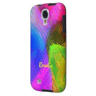 Caja colorida de la galaxia s4 de Samsung de Rosal Funda Para Galaxy S4