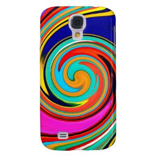 Caja colorida de la galaxia S4 de Samsung del extr