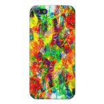 Caja colorida de la mota de la pintura iPhone 5 carcasa
