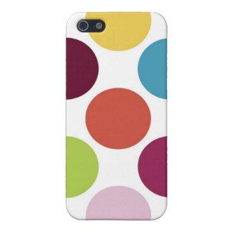 Caja colorida de la mota del iPhone 4 4s de la bur iPhone 5 Coberturas