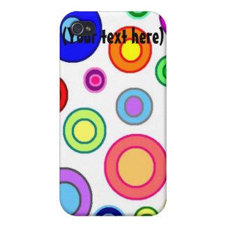 Caja colorida de la mota del iPhone 4 de los círcu iPhone 4 Coberturas