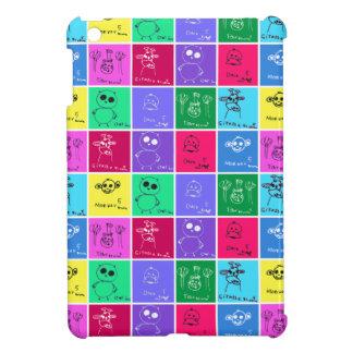 Caja colorida de los dibujos de los niños para el