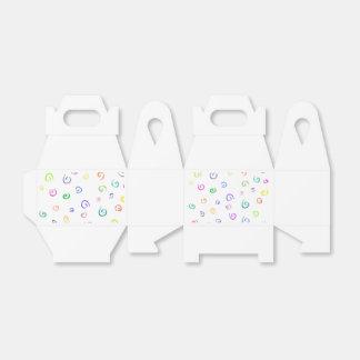 Caja colorida del aguilón de los remolinos paquetes de regalo