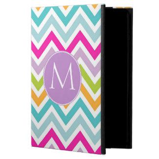Caja colorida del aire del iPad del monograma de C