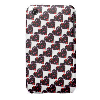 Caja colorida del amor de los corazones Case-Mate iPhone 3 carcasa