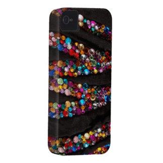 Caja colorida del diamante artificial y del iPhone 4 Case-Mate protector