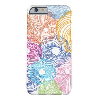 Caja colorida del ejemplo del arte funda de iPhone 6 barely there