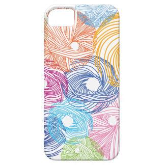 Caja colorida del ejemplo del arte iPhone 5 fundas