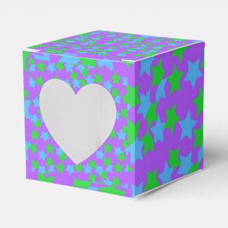 Caja colorida del favor de las estrellas cajas para regalos