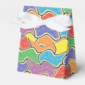 Caja colorida del favor de las fluctuaciones paquetes de regalo para fiestas