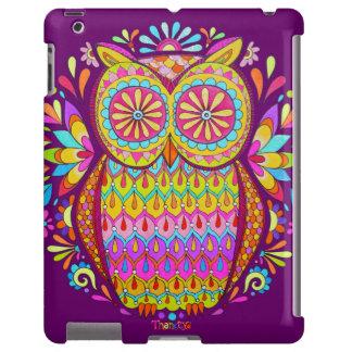 Caja colorida del iPad 2/3/4 del búho - caso de Ba Funda Para iPad